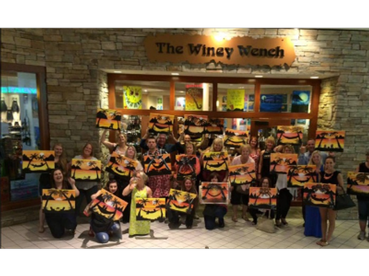 Winey Wench Paint Night Certificate and Bottle of Wine
