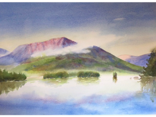 Mist Rising on Katahdin by Evelyn Dunphy