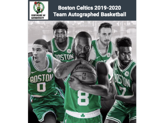 2019-20 Boston Celtics Team Signed Basketball