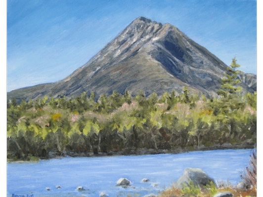 Katahdin from Katahdin Lake Island by Michael Branca
