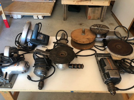 Vintage electric tools lot collection
