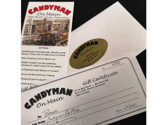 Candyman on Main Gift Certificate