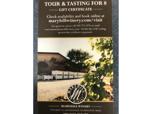 Maryhill Winery Tasting for 8, Spooky's Gift Certificate