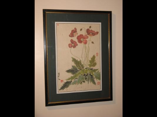 Oriental Poppies Brush Painting