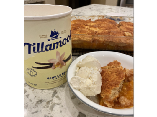 Laura and Hannah's Old-Fashioned Southern Peach Cobbler
