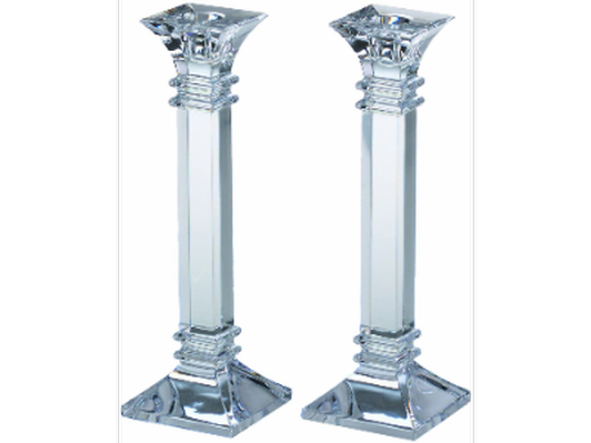Pair of Orrefors Crystal Candle Holders