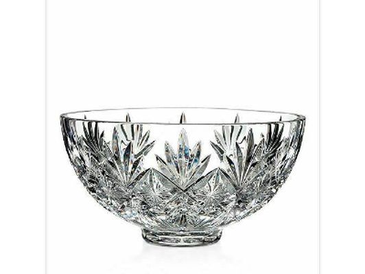"Waterford Crystal ""Normandy"" Footed Bowl and Vase"