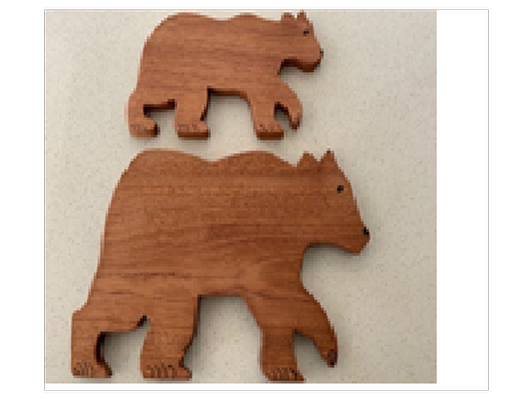 Bear Shaped Meat and cheese cutting board Set