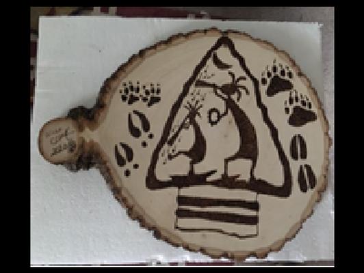One-of-a-kind Pyrography Folk Art by Allan Clark