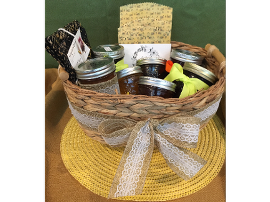 Homemade Jam and Honey Basket