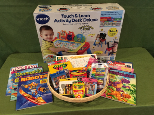 Activity Desk and Art Basket