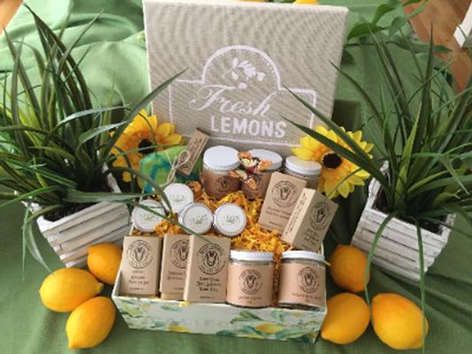 Ruby's Organic Goat Milk Lotion, Soap and Salve Basket - Lavender or Lemon