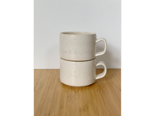 Set of Two Small Stacking Mugs by Julia Hurst (#2)