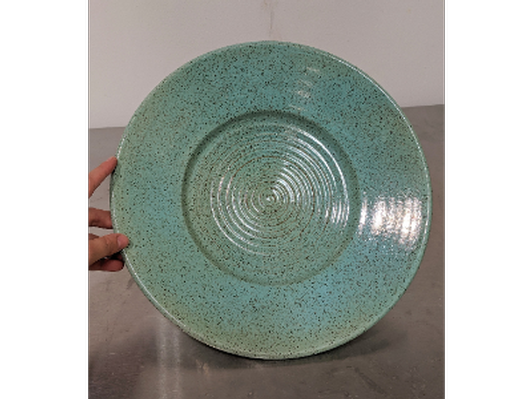 Platter with Robins Egg Blue by Jonathan Kerr