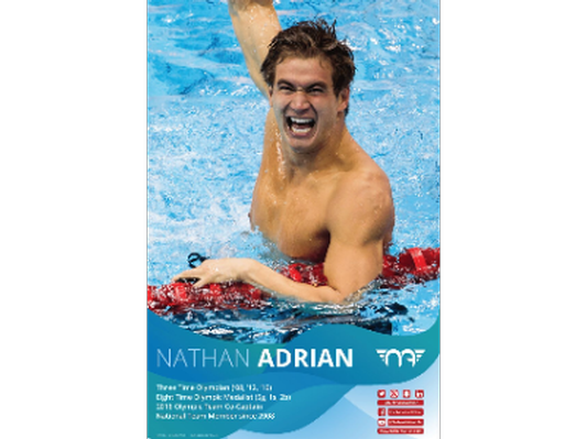 Poster autographed by Nathan Adrian