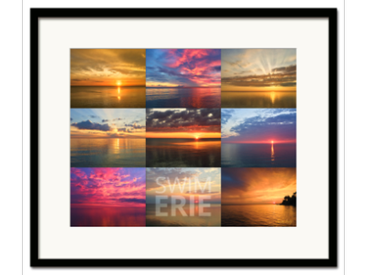 Lake Erie Sunrise Framed Photo Collage