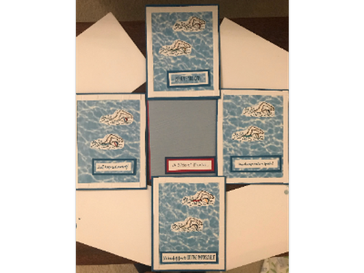 Swimmer Themed Thank You Cards
