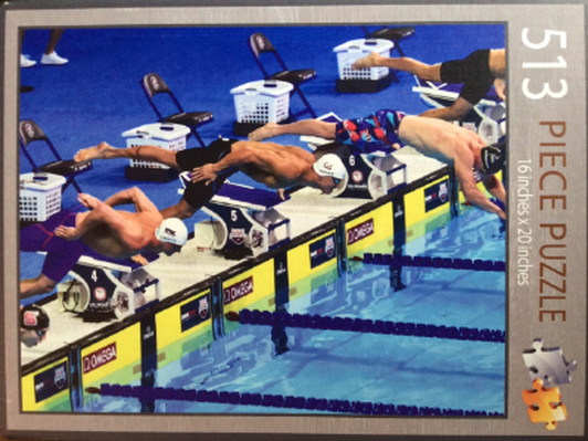 Swimming Jigsaw Puzzle (One-of-a-Kind)