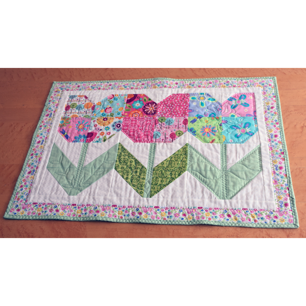 "Spring Flower Wall Hanging - 23"" wide by 33"" long"