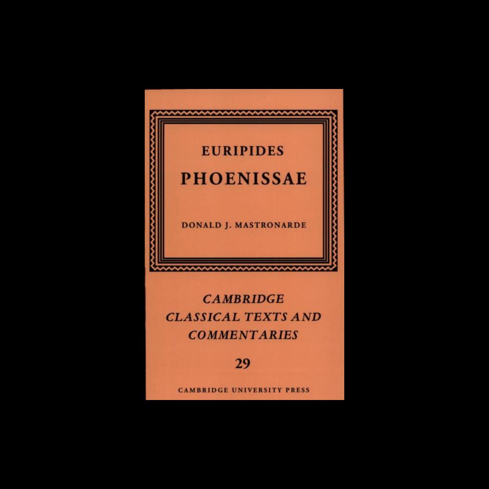 Mastronarde's Phoenissae Commentary - Inscibed!