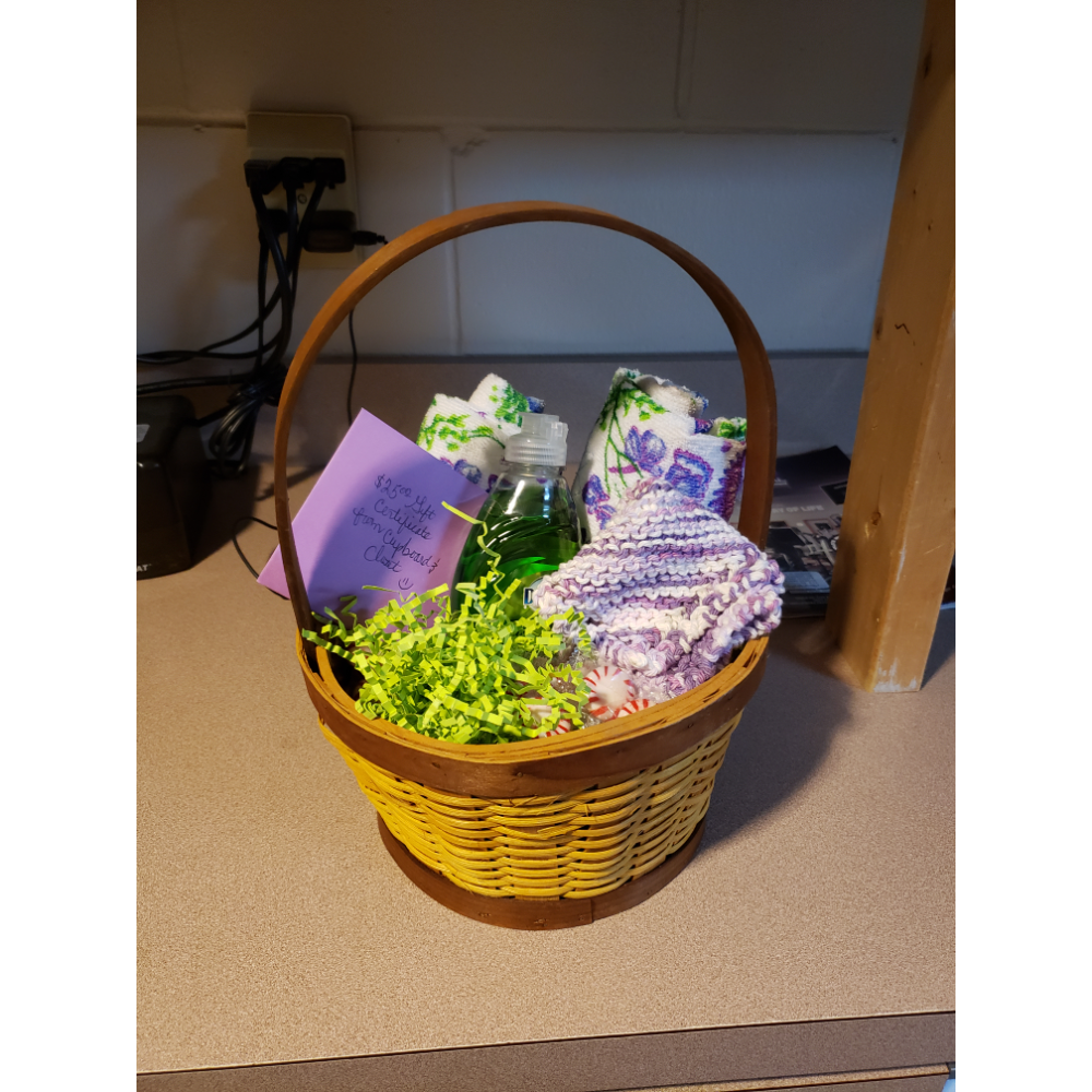 Gift Basket with $25.00 Cupboard and Closet gift certificate