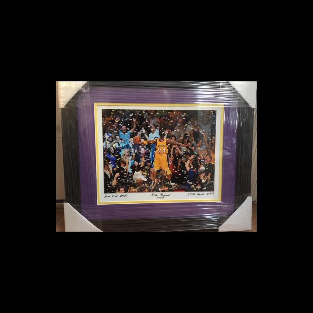 Kobe Bryant LA Lakers NBA Finals Framed Photo