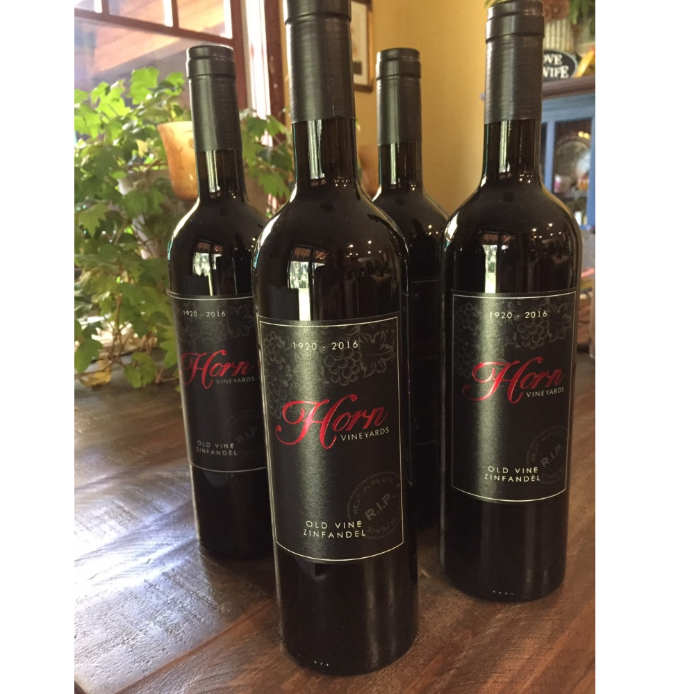 4 Bottles of Russ Horn RIP Old Vine Zin