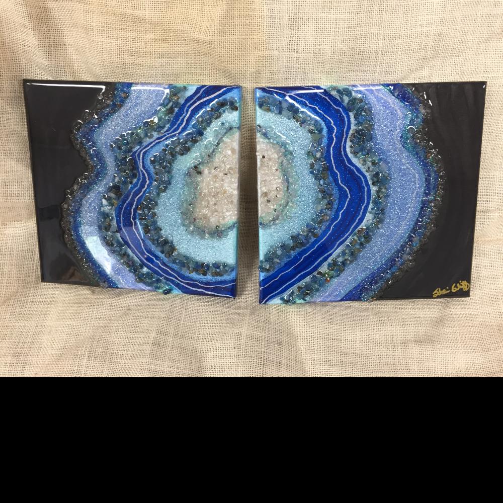 """Geode Slice"" Painting"