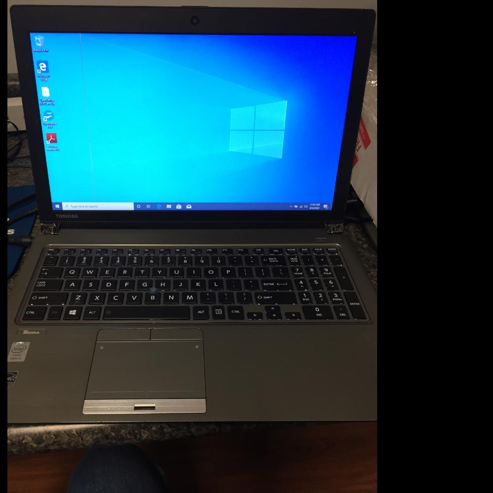 Refurbished Toshiba laptop