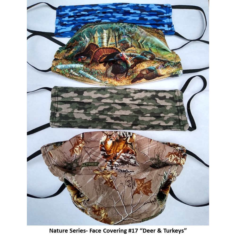 Nature Series Face Covering: Deer and Turkeys