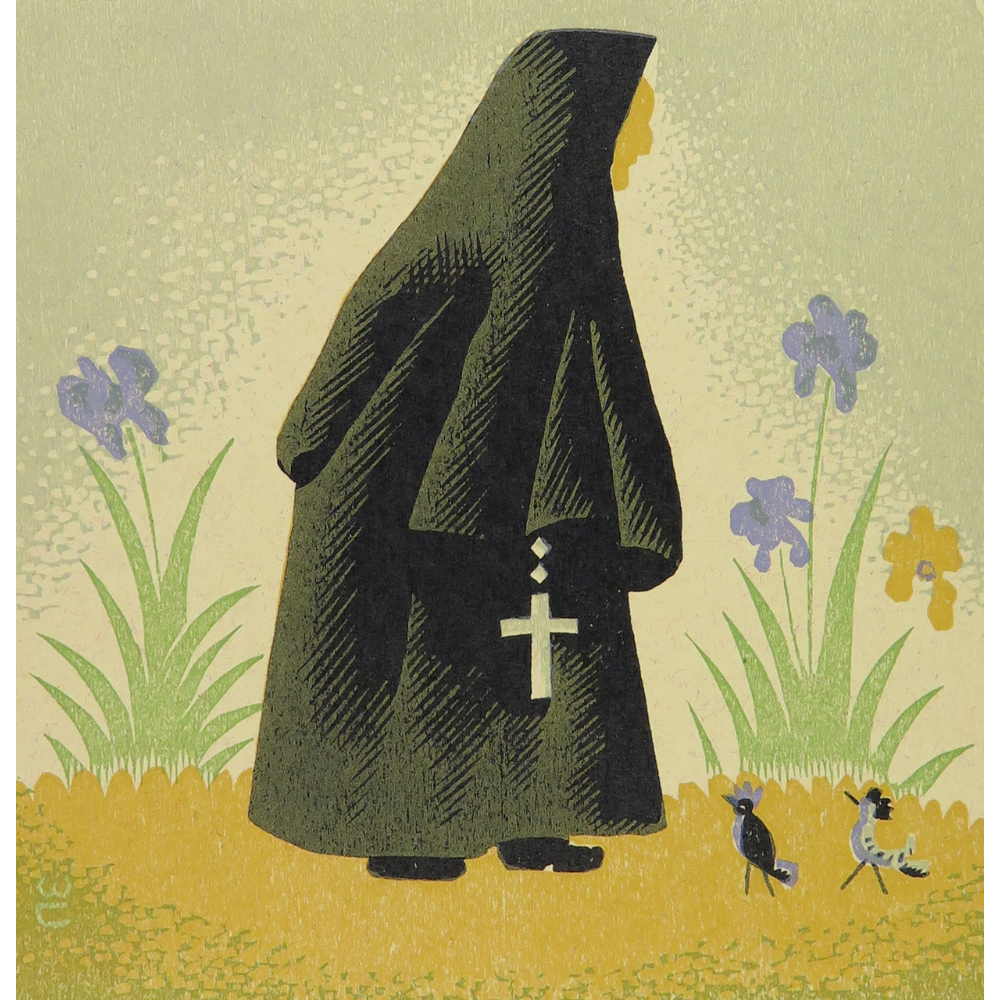 """Carmelite Nun Walking"""