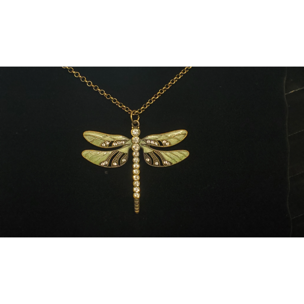 "Dragonfly Pendant with 30"" chain"