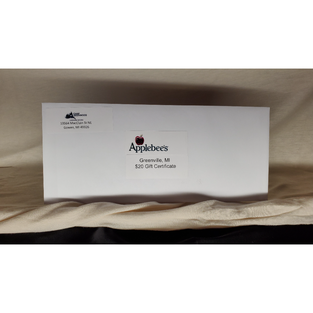 $20 AppleBee's Gift card (Greenville, MI only)