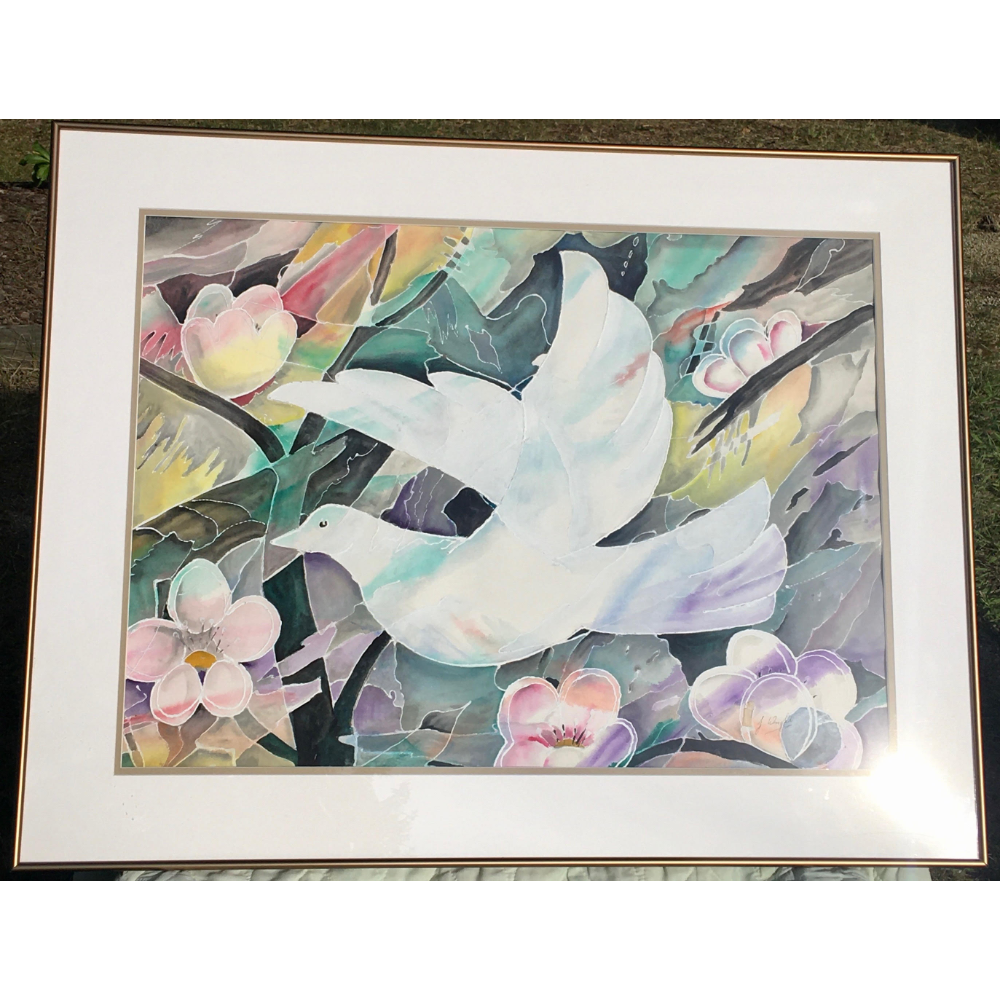 Framed painting by Canadian Artist Jean Wright