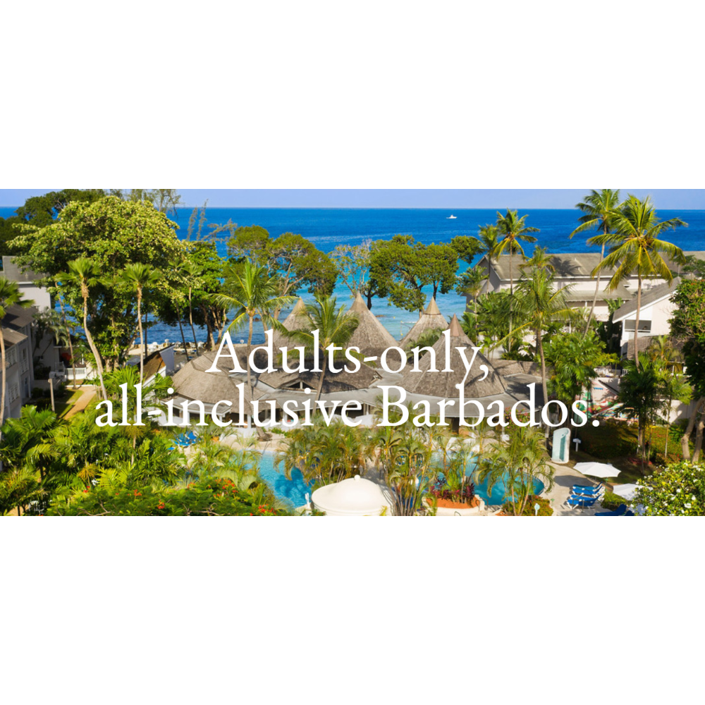 7 to 10 nights The Club Barbados Resort & Spa- Adults Only