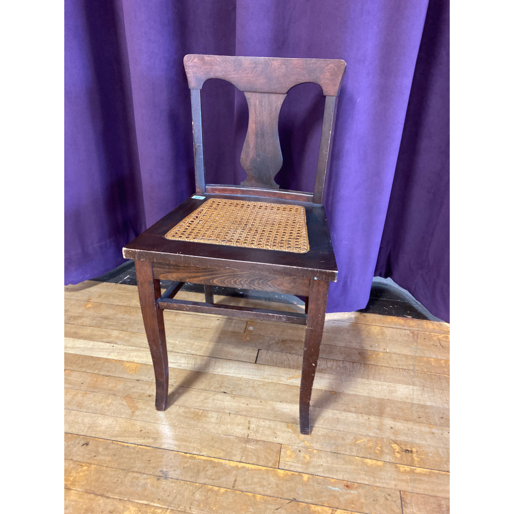 Chair with wicker seat