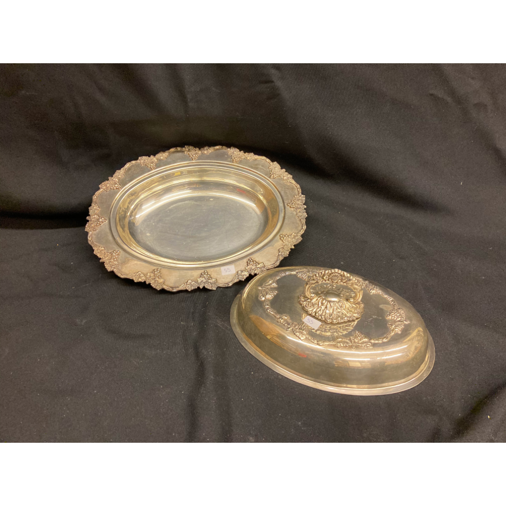 Silver Coloured Serving Dish