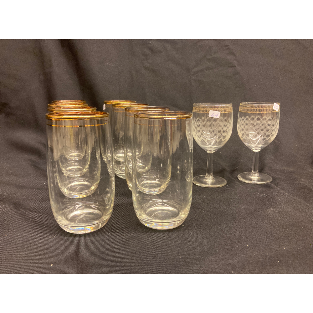 Water Glasses and Sherry Glasses