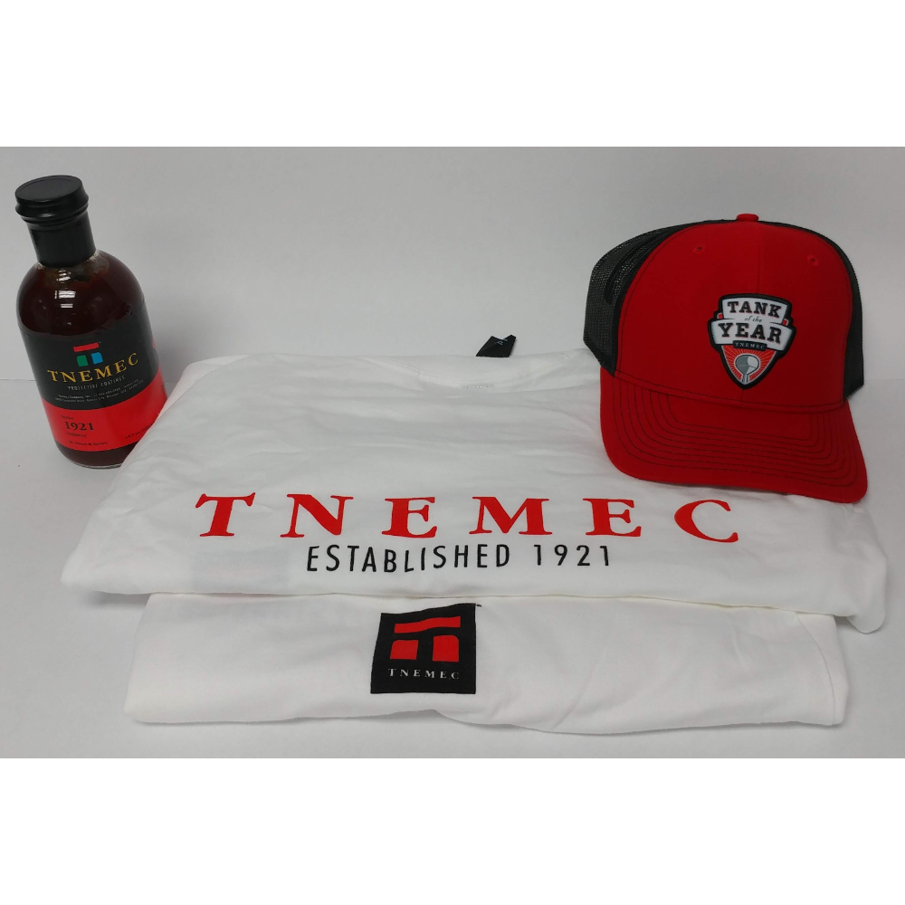 XL T-Shirt, Hat, Mask, and BBQ Sauce