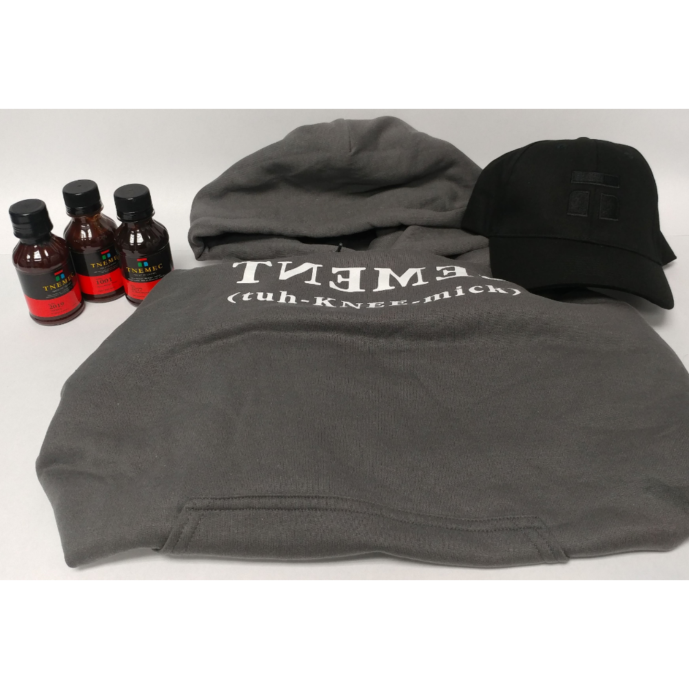 Large Sweatshirt, Mask, and BBQ Sauce