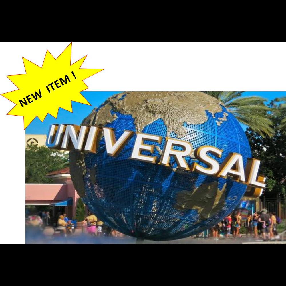 (4) Universal Studios Tickets & Souvenirs