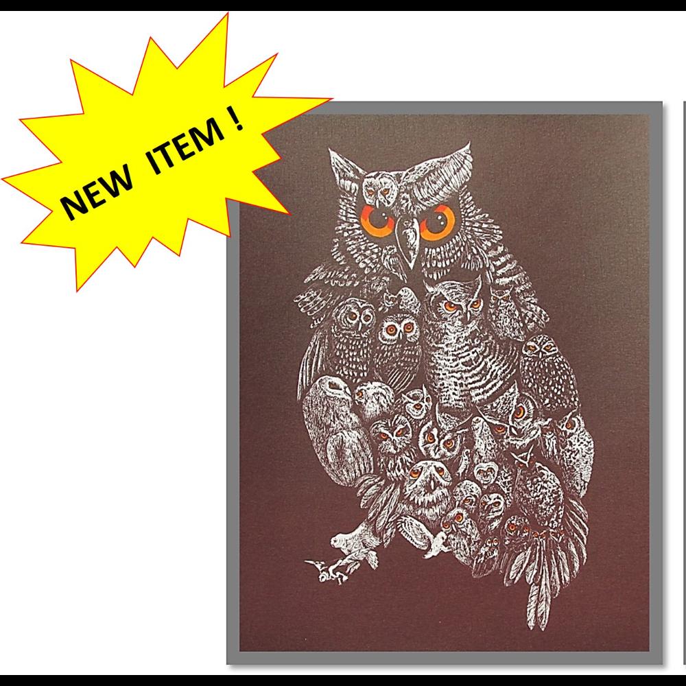 Unframed Owl Print by Johnathon Gallagher