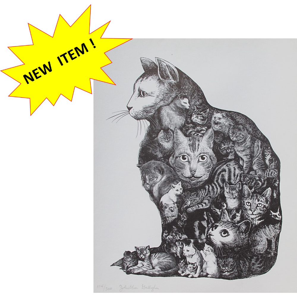 Unframed Cat Print by Johnathon Gallagher