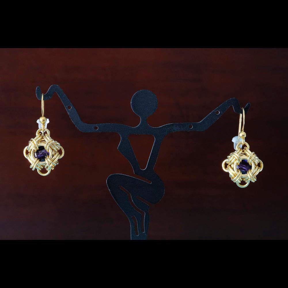 Gold Orb Earrings