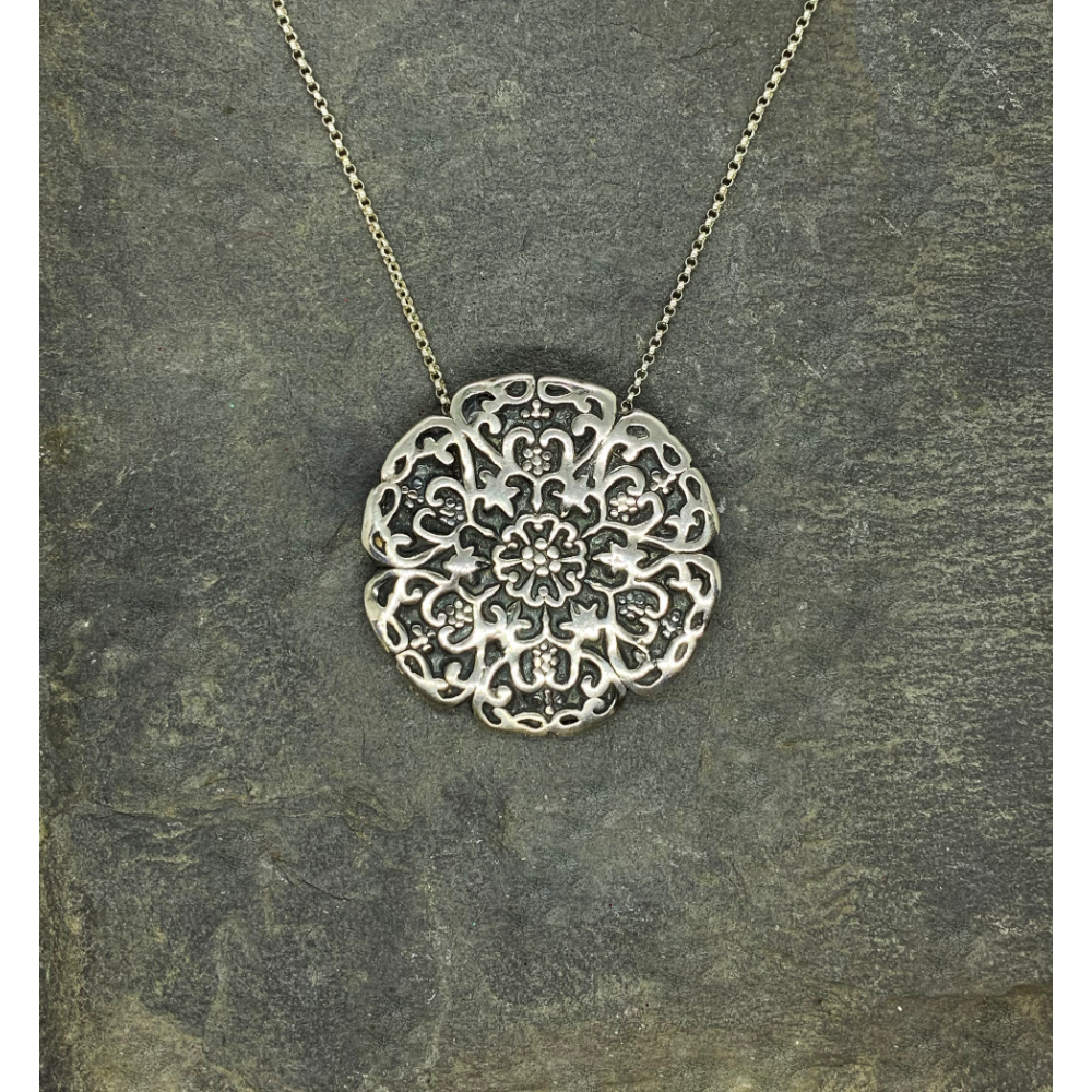 Handcrafted One-of-a-Kind Fine Silver Pendant by Mary Anne Huntington
