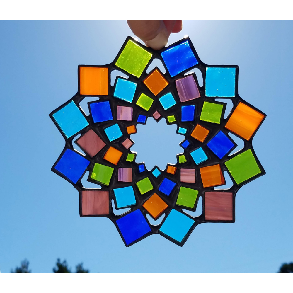 Mosaic Mandala Suncatcher