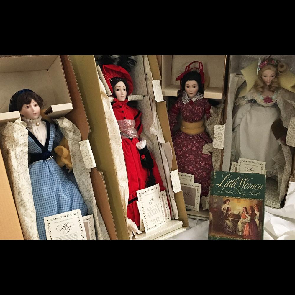 Little Women Franklin Heirloom Dolls (Meg, Jo, Beth & Amy)
