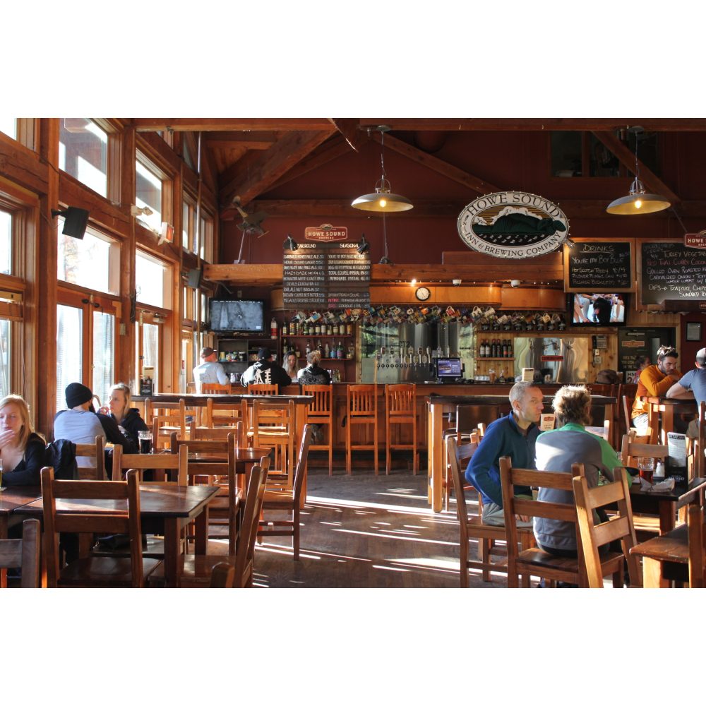 One night stay at Howe Sound Brewing, $100 gift card for brewpub and 6 pack of tall cans