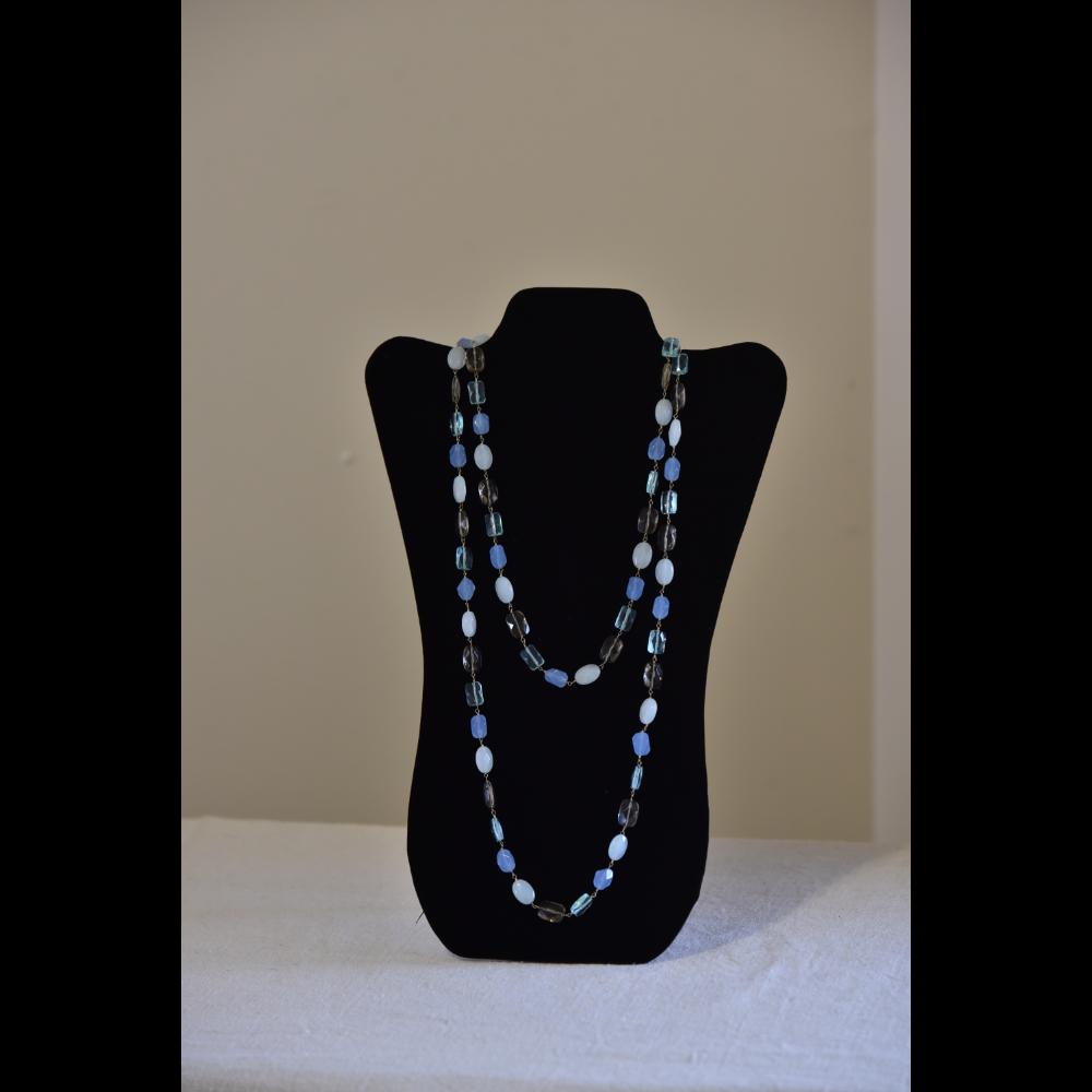 Marlyn Schiff Light Blue Bead Necklace