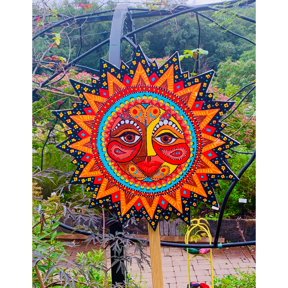 Intricately-painted Colorful Sun
